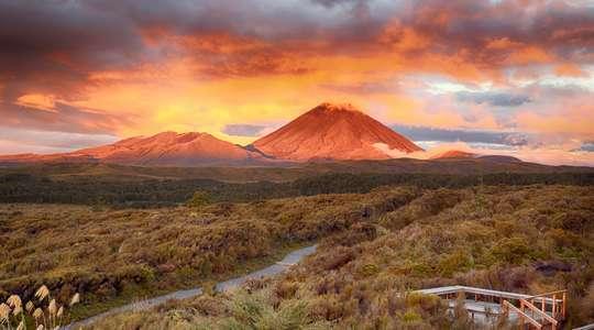 Sunset at Mount Ngauruho, Tongariro National Park