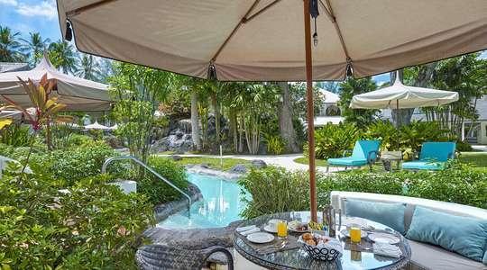 Luxury Swim Up Poolside Room