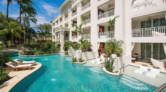 Crystal Lagoon Swim Up Club Level Luxury Room with Patio Tranquility Soaking Tub