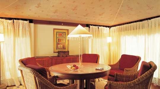 Luxury Tent, living area
