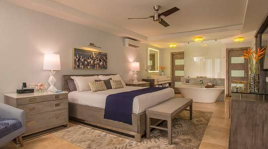 Lover's Lagoon Hideaway Walkout Junior Suite with Patio Tranquility Soaking Tub